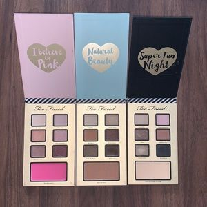 3 too faced eyeshadow palettes